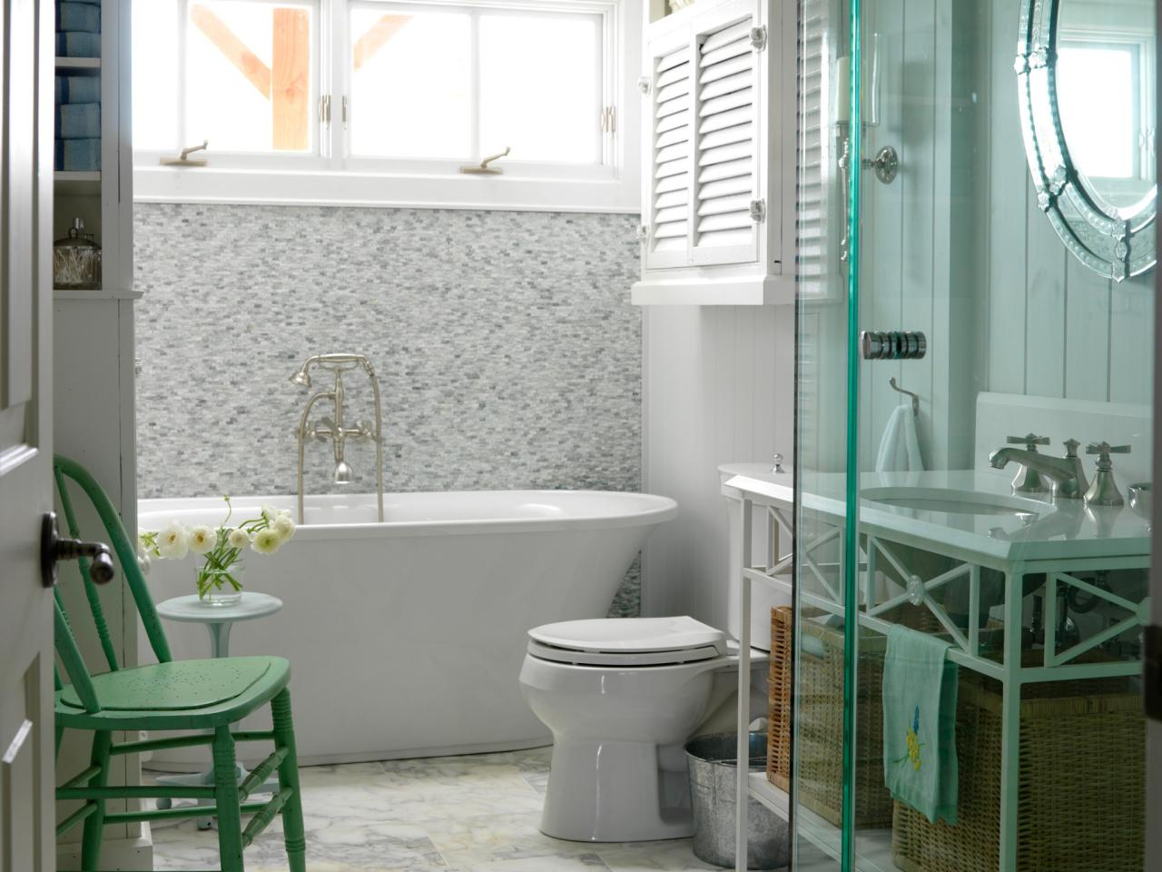 cottage bathroom tiling