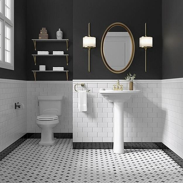 Liven Up Your Home With These Bathroom Colours - Black and White Bathroom