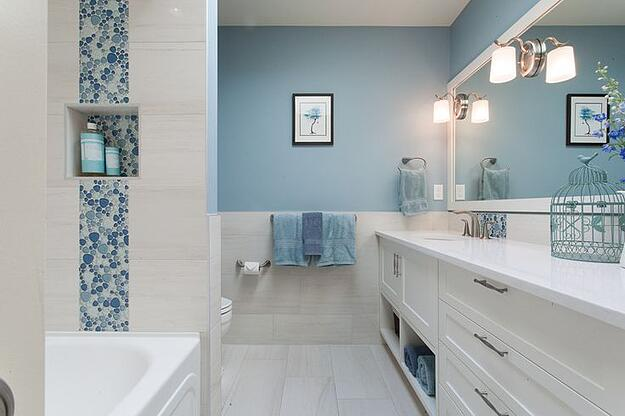 Liven Up Your Home With These Bathroom Colours - Blue Bathroom