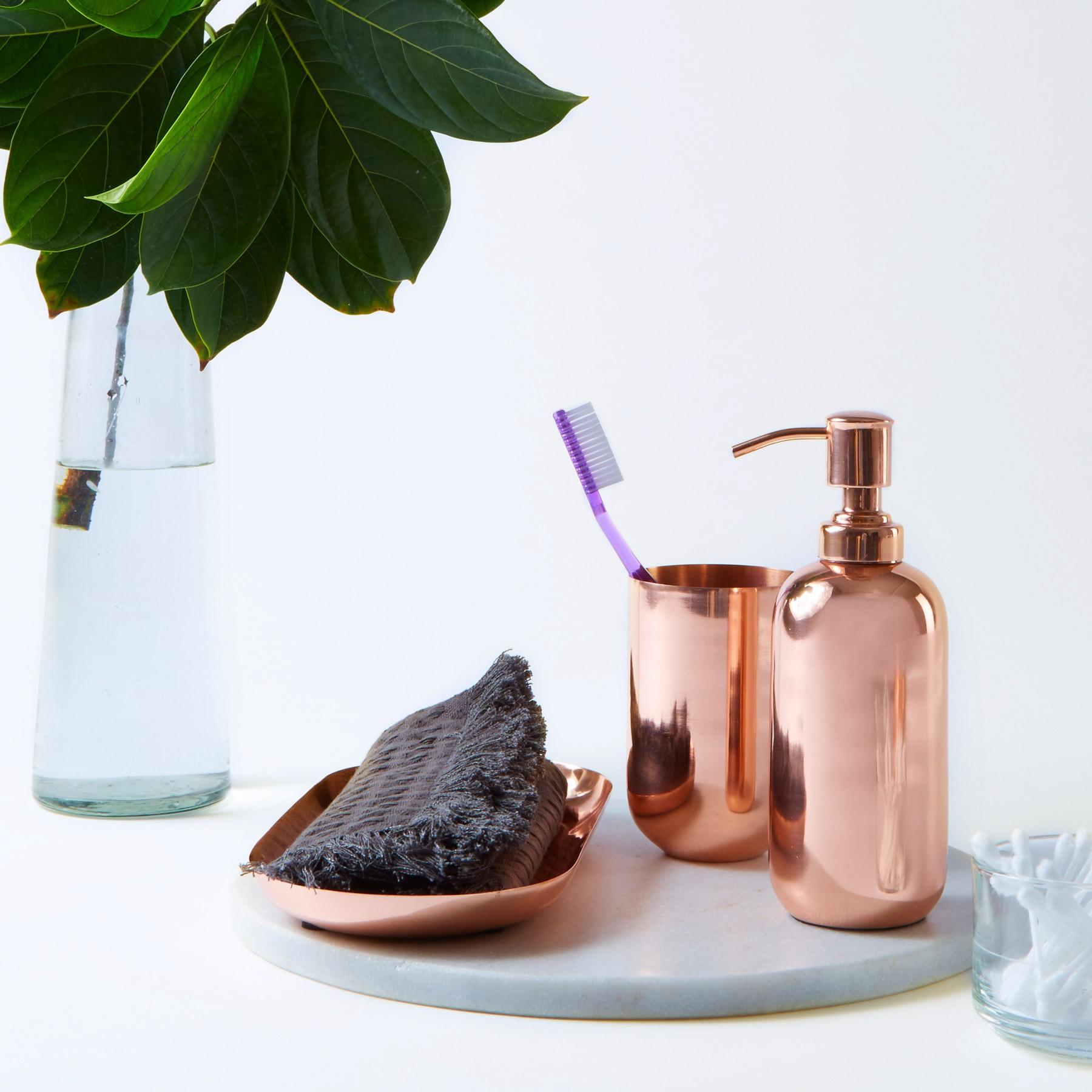 copper bathroom accessories