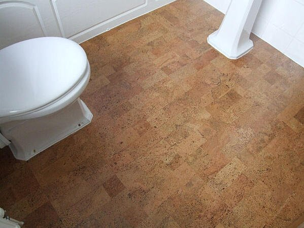 5 Best Bathroom Flooring Materials to Consider - Cork Flooring in Bathroom