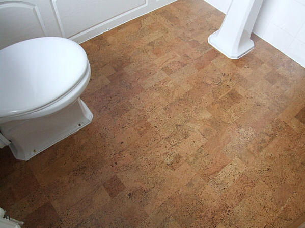 5 Best Bathroom Flooring Materials to Consider - Cork Flooring in Bathroom