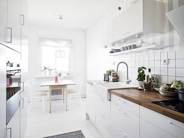 5 Simple Ways to Make Your Small Kitchen Feel Bigger - Stick to Light Colours