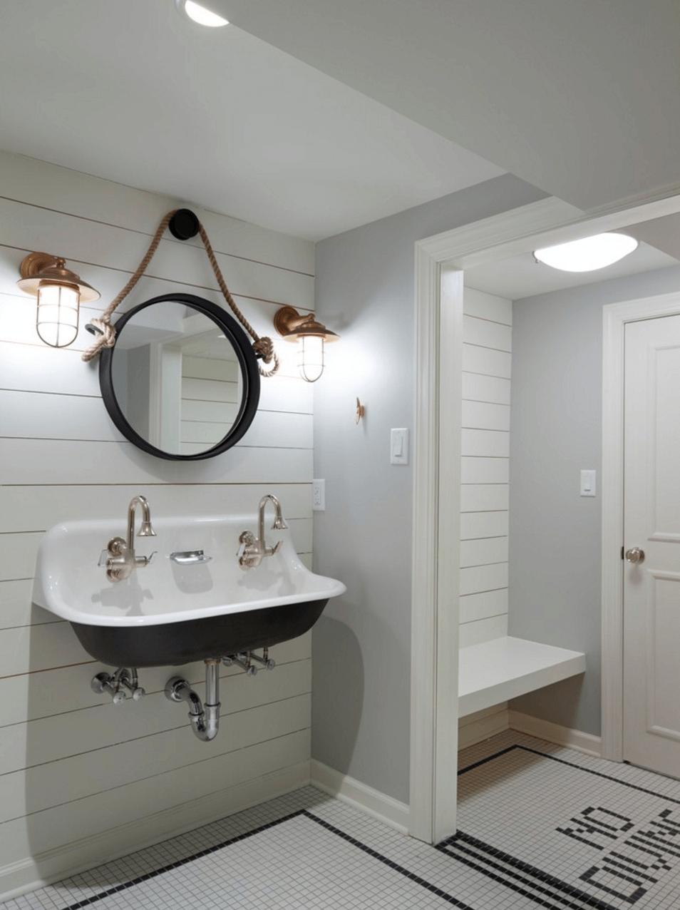 lights around bathroom mirror