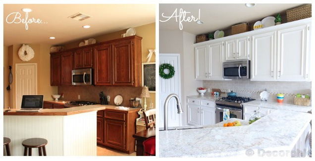 Simplify Your Kitchen with White Kitchen Cabinets - Painting White Cabinets