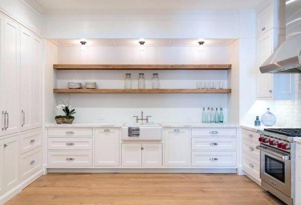 4 Alternatives to Bulky Upper Cabinets in the Kitchen - Stacked Cabinets