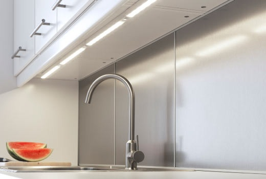 Simplify Your Kitchen with White Kitchen Cabinets - Under Cabinet Lighting