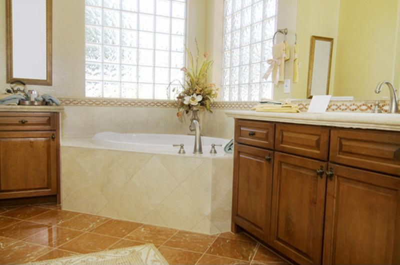Looking for an elegant bathroom? Consider adding marble for a sense of luxury.