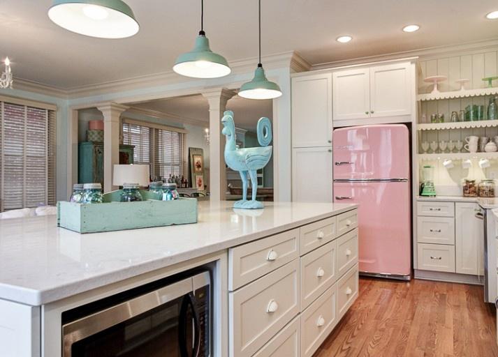 Pink-Vintage-Kitchen